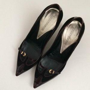 Emporio Armani Mary Jane Heel Shoes Women 38